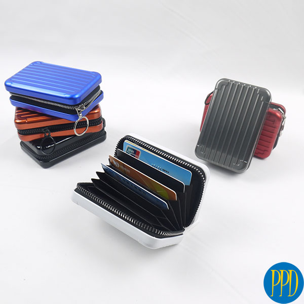 Get your business logo on a RFID blocking credit card holder and wallet for the New York and New Jersey business to business and promotional product marketer.
